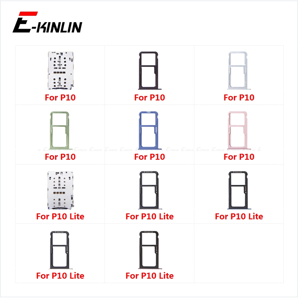 Sim Card Socket Slot Tray Reader Holder Connector Micro SD Adapter Container For HuaWei P10 Lite Replacement Parts
