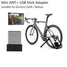 Mini Ant + Usb Stick Adapter Dongle Ant Usb Stick Adapter Draagbare Voor Garmin Voor Zwift Voor Wahoo Fietsen Garmin forerunner