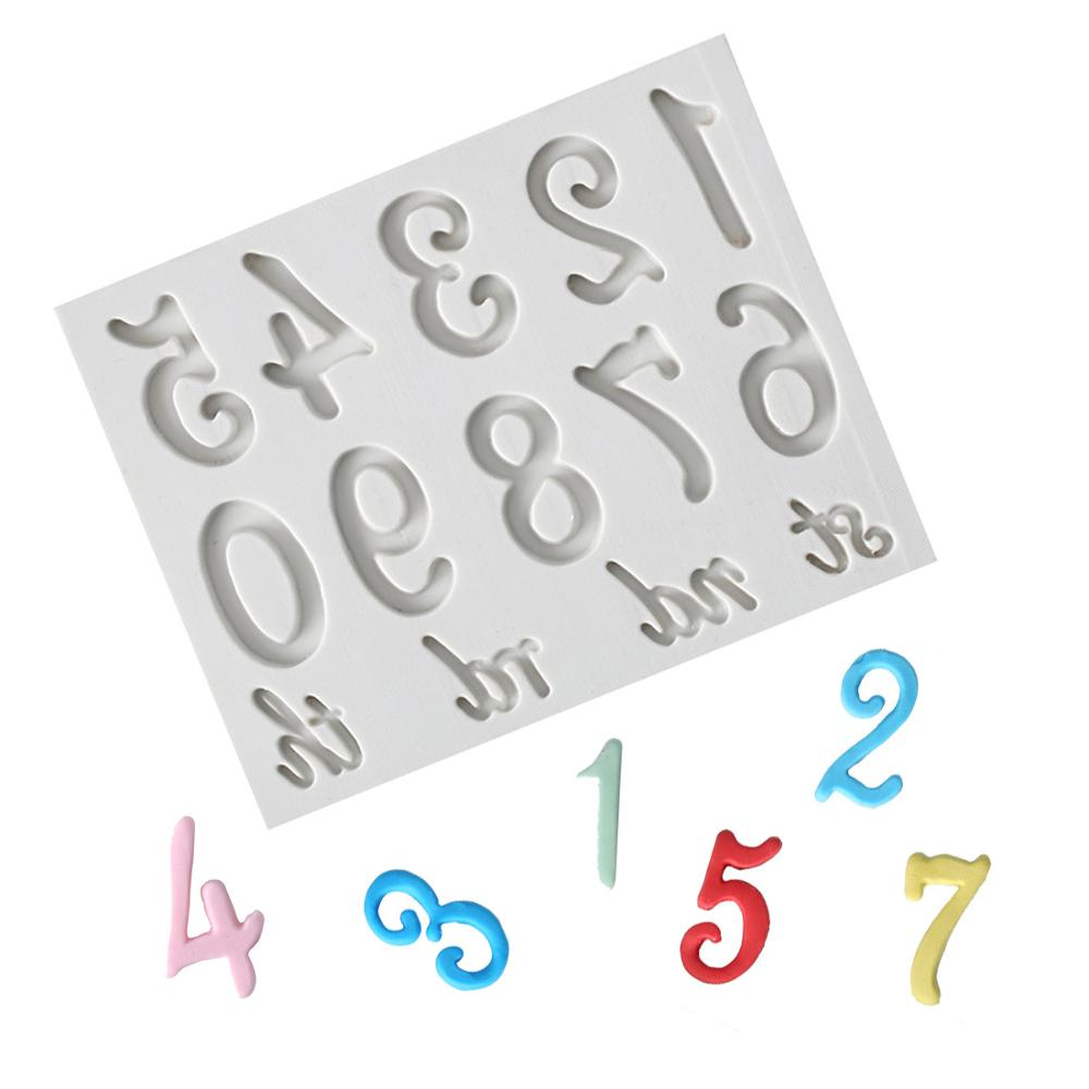 Numbers & <font><b>Letter</b></font> Molds Fondant <font><b>Cake</b></font> <font><b>Decorating</b></font> <font><b>Tools</b></font> Silicone <font><b>Cakes</b></font> Gumpaste Molds Sugarcrafts Chocolate Baking <font><b>Tools</b></font> image