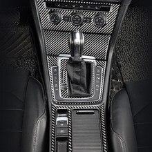 Panneau de changement de vitesse de voiture avec interrupteur AC, garniture de cadre de phare en fibre de carbone pour Volkswagen VW Golf 7 GTI R GTE GTD MK7 2013 – 2017