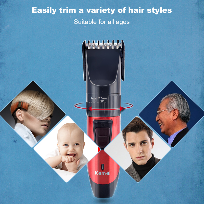 Image 3 - Kemei KM 730 Rechargeable Dry Dual use Hair Clippers Professional Hair Cutting Machine for Men Trimmer Hair Trimmer Haircut KitHair Trimmers   -