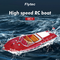 20km/h Flytec V001 2.4G Wireless Remote Control 4CH RC Yacht Boat Electric Sailing Boat 20km/h High Speed RC Boats Outdoor Toy