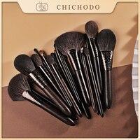 CHICHODO Make-Up Pinsel-2021 Neue Luxuriöse Geschnitzte Ebenholz Tier Haar Series-20pcs Natürliche Haar Kosmetik Pinsel Set-Schönheit Werkzeug