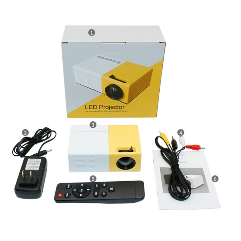 LED Projector Audio 600 Lumen YG300 HDMI USB Mini Projector Home Media Player Home Theatre System Entertainment Equipment