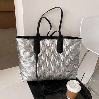 Luxury Cotton Bags Big Women's Handbags High Quality Shoulder Bag Ladies 2020 Winter New Female Handbag Tote Bag Street Bags