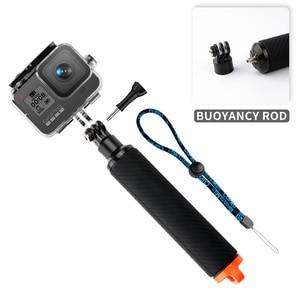 Image 2 - Shutter Trigger Diving Buoyancy Stick Floating Hand Grip For GoPro Hero 8 hand grip Black shutter control shooting bracket