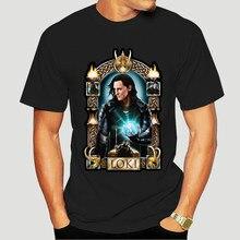 Novo popular loki masculino preto t-shirts S-3XL 5737a