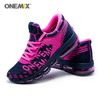 ONEMIX Women's Running Shoes Mesh Sport Shoes Walking  Woman Elasticity Breathable Jogging Shoes Comfortable Outdoor Sneakers onemix women s running shoes knit mesh vamp lightweight run sneakers woman cushion for outdoor jogging walking red gold white