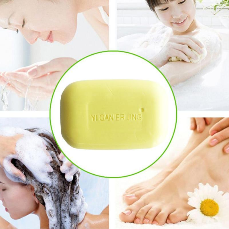 Portable Sulfur Soap Fresh Refreshing Healthy Beautiful Skin Acne Psoriasis Seborrhea Eczema Bath Whitening Shampoo
