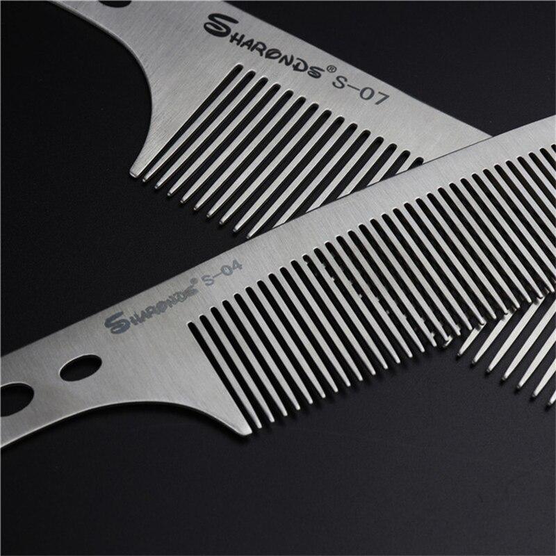 Профессиональная ультратонкая Металлическая Расческа для стрижки волос из нержавеющей стали
