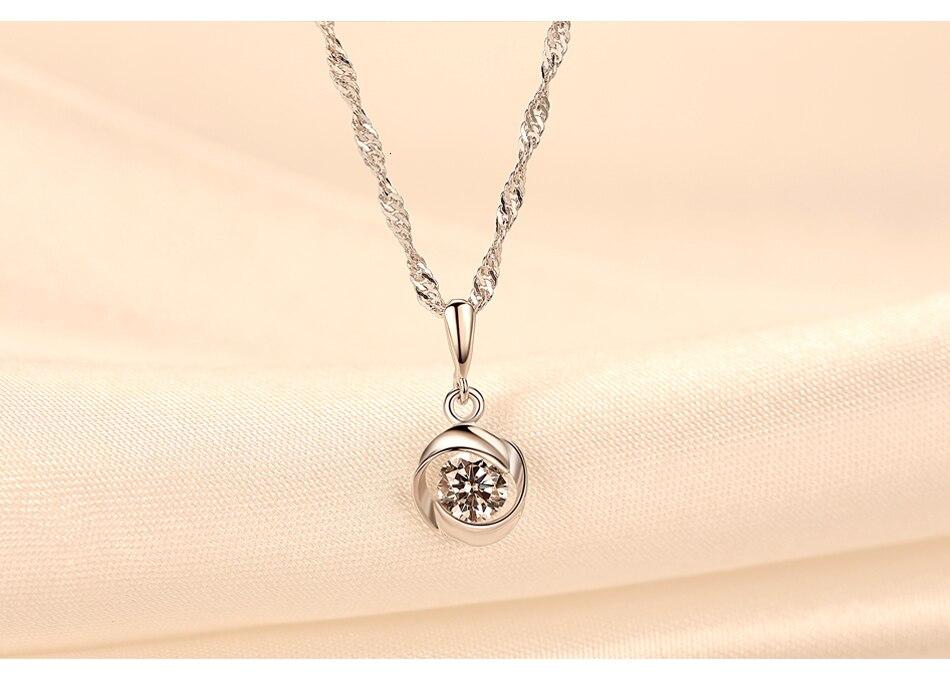 LUOTEEMI, новинка, модное женское ожерелье из стерлингового серебра 925, ювелирное изделие, восемь сердец и восемь стрел, циркониевое ожерелье с кулоном