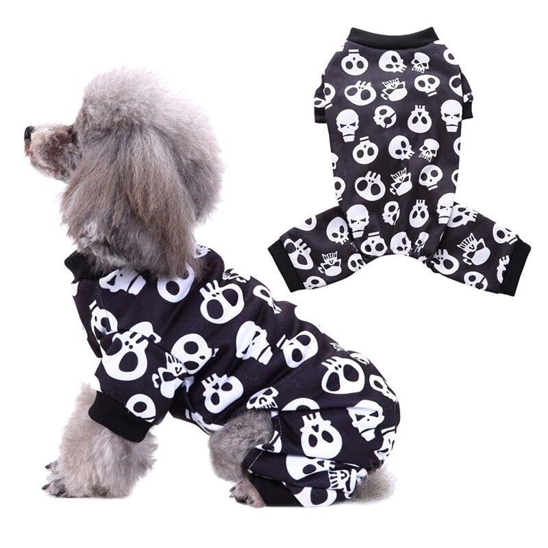 Fashion Pet Dog Cat Halloween Clothes Cozy Puppy Skull Vest Apparel Costume Ropa De Verano Para Perros For Dogs Pet Supplies|Dog Coats & Jackets|   - AliExpress