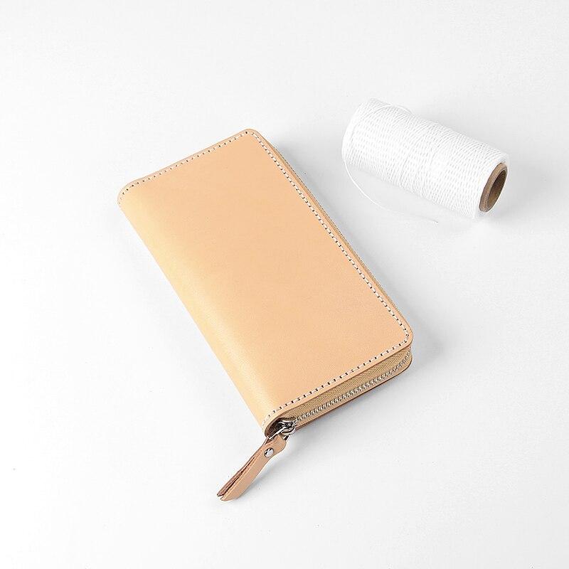 2019 nouveau portefeuille en cuir fait main (paquet de matériel) Kit femme longue fermeture éclair grande capacité multifonction en cuir pochette bricolage