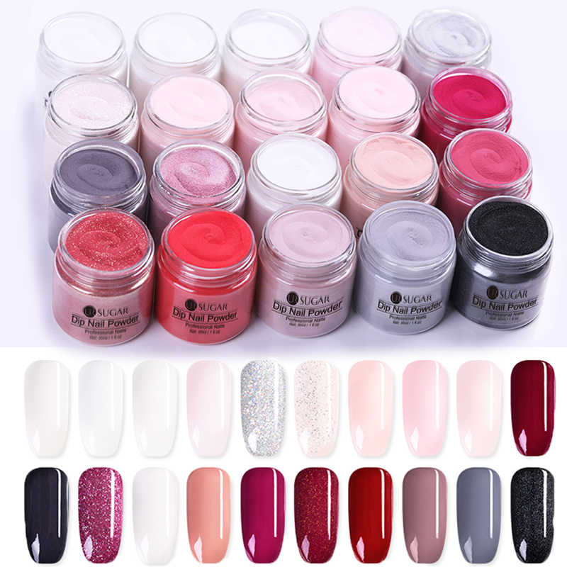 UR SUGAR 30ml Dipping Nail Powder Gradient Clear Coat Dip Nail Glitter Natural Dry For Nail  Nail Art Decoration