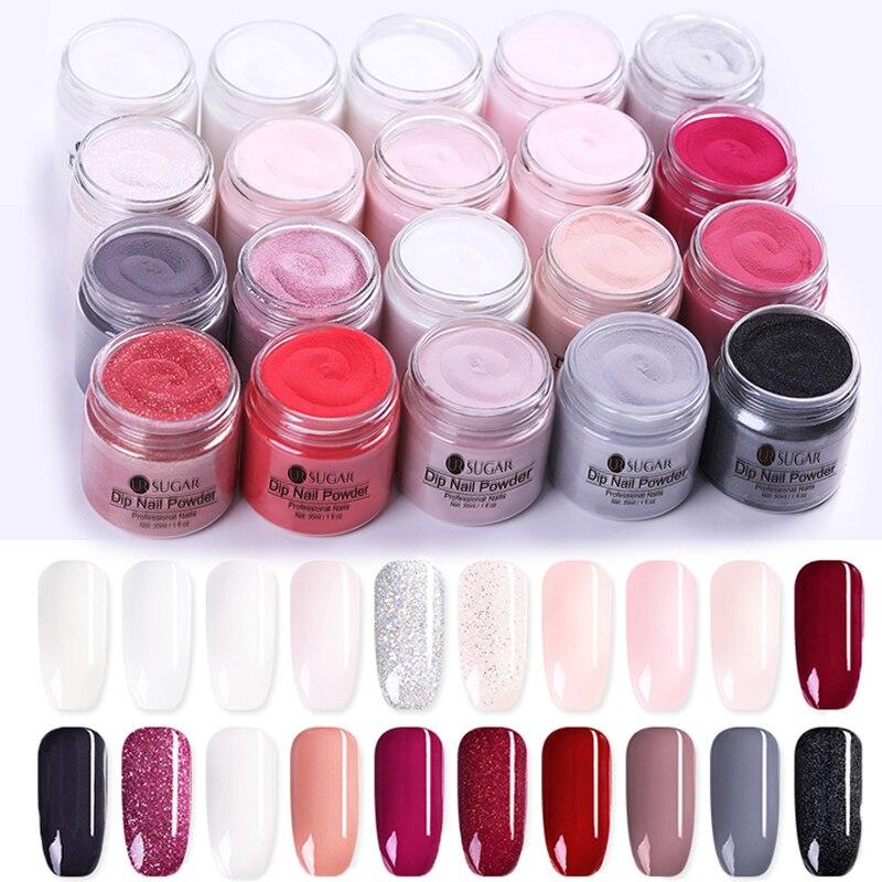 UR SUGAR 30ml Dipping Nail Powder Gradient Clear Coat Dip Nail Glitter Natural Dry For Nail  Nail Art Decoration-in Nail Glitter from Beauty & Health