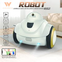 R02 RC Robot with 720P Camera Baby Monitor WiFi Camera Home Security Intelligent Interactive Robot for Kids Pets