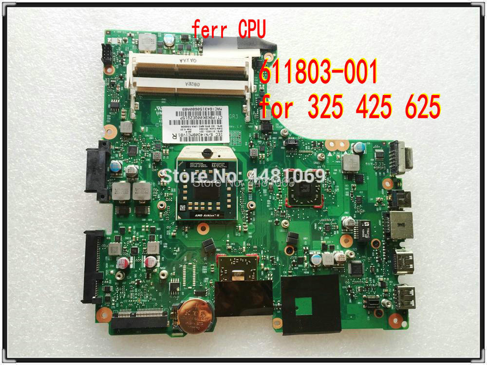 For HP 625 Notebook For Compaq 325 326 425 Notebook 611803-001 CQ325 325 425 625 Laptop Motherboard 100% Full Tested OK