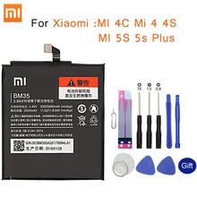 Bateria de celular original bm35, para xiaomi mi 4c mi 4 4S mi 5S 5S plus bm36 bm37 bm38 bm32 pacote de reposição para bateria