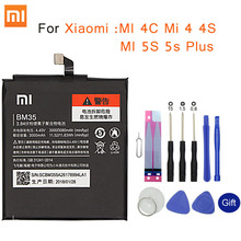 שיאו mi המקורי טלפון סוללה BM35 לשיאו mi MI 4C Mi 4 4S MI 5S 5S בתוספת BM36 BM37 BM38 BM32 החלפת סוללה הקמעונאי חבילה
