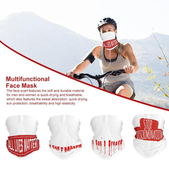 Multifunction Face Mask Quick-drying Breathable Ice Silk Sport Cycling Skiing Hiking Bandana Scarf Men Women Face Scarf Towel