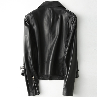 2020 Women Spring Genuine Real Sheep Leather Jacket H35