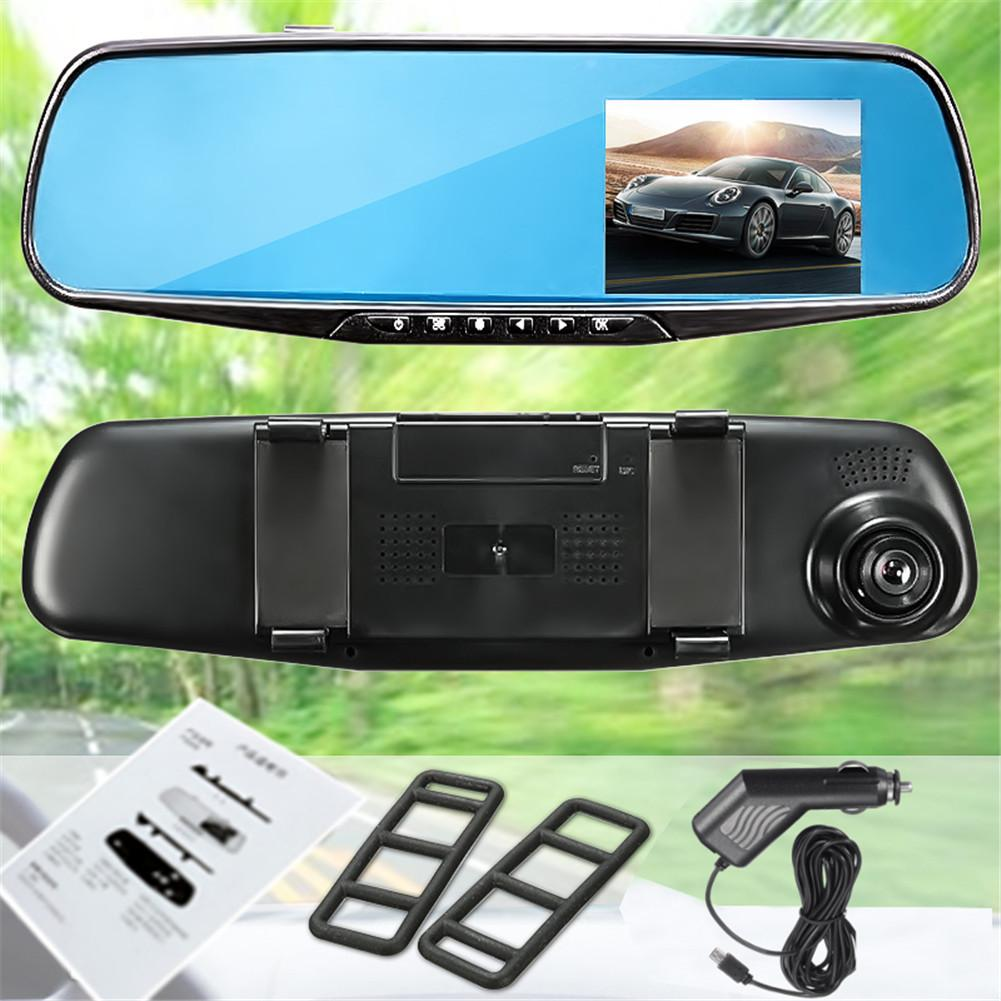 DVR Dash-Cam Motion-Detection Rearview-Mirror-Camera Video-Recorder Lcd-Display-Screen