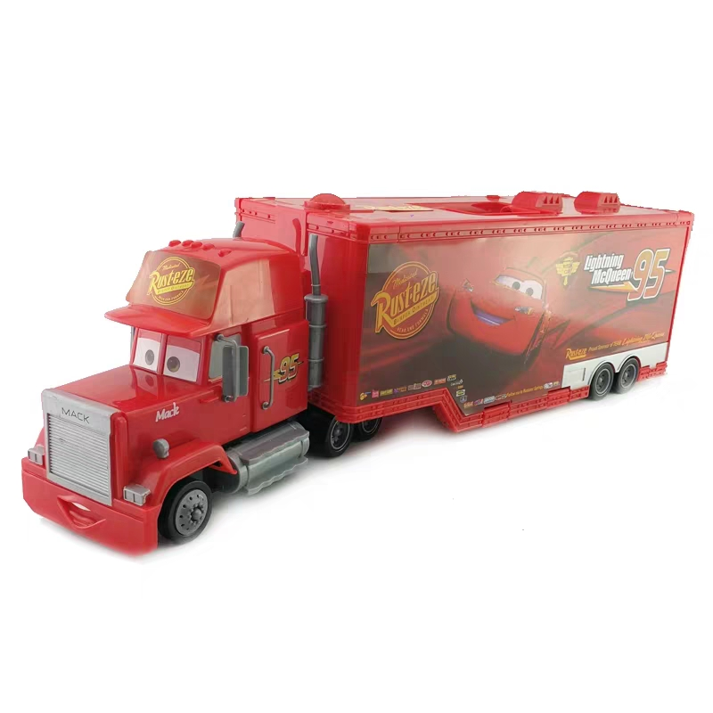 Genuine Disney Pixar 2 3 Movie Car Story Super Large McQueen 95 Die-cast Container Transporter Model Simulation Child Gift Boy