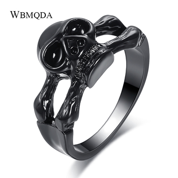 Wbmqda caliente Vintage cráneo gótico hombres anillo Heavy Metal pistola negro Punk Rock anillo Steampunk joyería Envío Directo 2020 nuevo