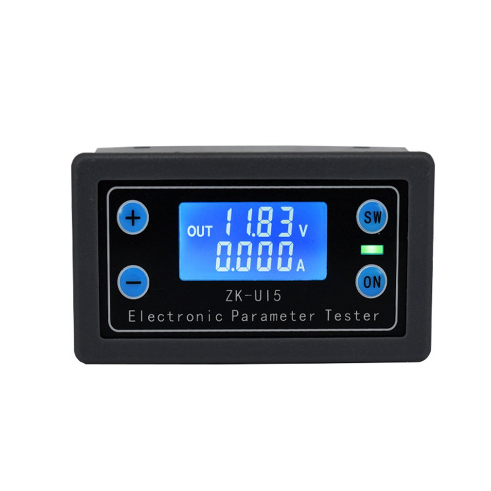 ZK UI5 Battery Tester Voltmeter Ammeter Electronic Monitor Charger Tester Power Capacity Meter Charge Discharge Controller|Current Meters| |  - title=