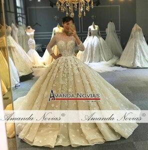 Image 3 - Свадебное платье 2020, новый дизайн, Настоящее рабочее свадебное платье 100%, Настоящее рабочее свадебное платье высокого качества