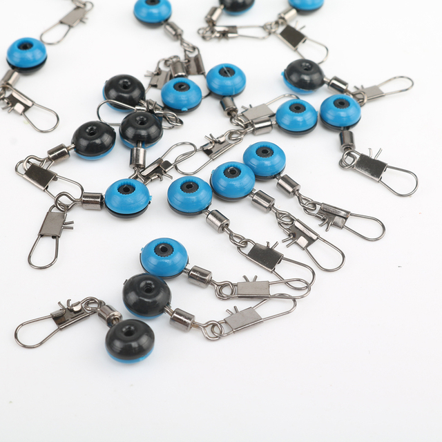 20Pcs Fishing Float Rolling Swivel Supplies With Tackle Tool Fishing Line To Hook Ring Ocean Rock Fshing Accessories 5
