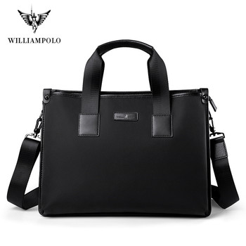 WILIIAMPOLO 2020 Brand Business Men's Briefcase High Quality Totes Leather Men Laptop Handbags Messenger Bags For Male