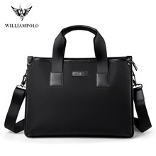 Williampolo New 2021 Brand Business Men's Briefcase High Quality Totes Leather Men Laptop Handbags Messenger Bags For Male