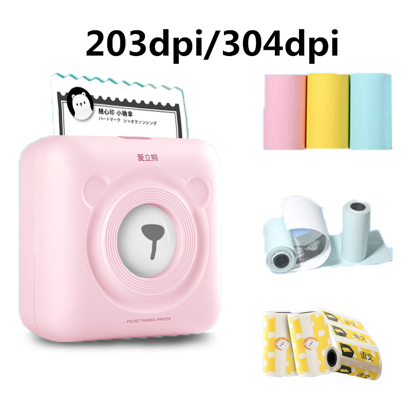 A6 Peripage Mini Photo Printer Thermal Printer 203dpi 304dpi Options Mobile Phone Inkless Wireless Printer Paper Protection Case