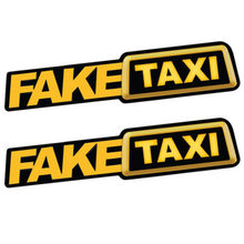 Divertente FALSO TAXI Car Auto Sticker FakeTaxi Dell'emblema Della Decalcomania Auto Vinile Adesivo Universale Per BMW Ford Toyota VW Honda Kia opel Kia(China)