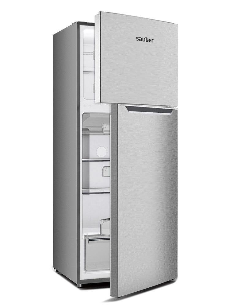 Refrigerator Two Doors Sauber Sc177I Nofrost TO + High 177 Cm Width 70 Cm Inox