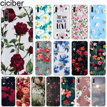 Case for Samsung Galaxy A51 S20 A71 A50 A70 A80 A90 A40 A30 A20 A60 A10 A20e Ultra Plus Silicone Flower Rose Vintage Cover Funda