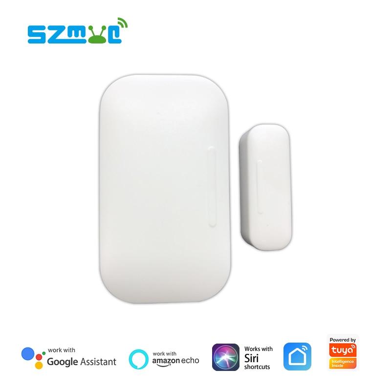 Tuya  Smartlife ZigBee Door  Sensor Window Contact Sensor Smart Life App Push Notification Alexa Google Home IFTTT Supported