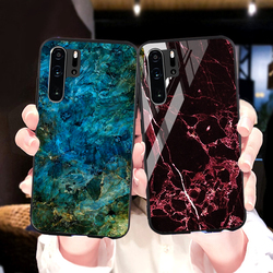 На Алиэкспресс купить стекло для смартфона marble tempered glass case for huawei y9 y5 y6 y7 prime 2018 2019 case huawei p20 p40 lite p30 pro nova 7i 5t 3i 3 6 se 5g cover