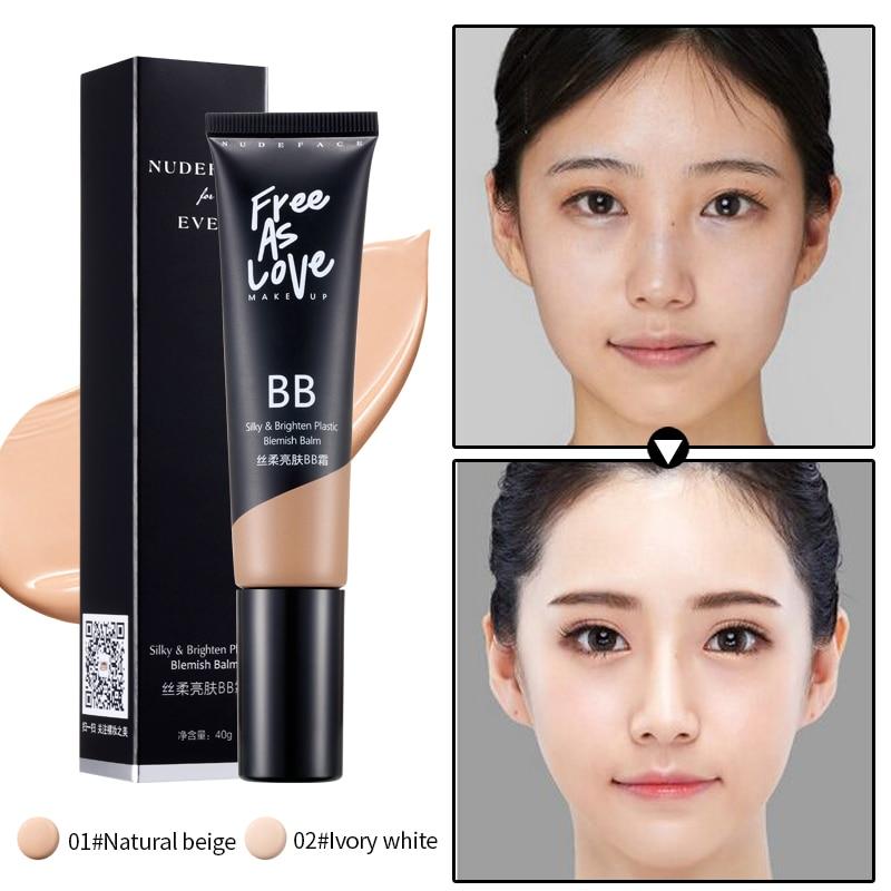 BB Cream Face Cream Anti Aging Korean Cosmetic Concealer Brighten Whitening Moisturizing Face Foundation Makeup Beauty Skin Care