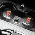 1 шт., автомобильный нескользящий коврик для подстаканника SAAB 9-3 9-5 93 9000 900 9-7 600 99 9-X 97X Turbo