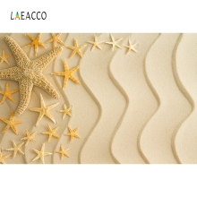 Laeacco Summer Sea Beach Sands Starfish Shell Holiday Photography Backgrounds Customized Photographic Backdrop For Photo Studio