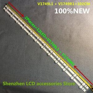 Image 3 - 8 stuks/partij Nieuwe LED strip Voor LG 49UV340C 49UJ6565 49UJ670V 49 V17 ART3 2862 2863 6916L 2862A 6916L 2863A V1749R1 V1749L1 NIEUWE