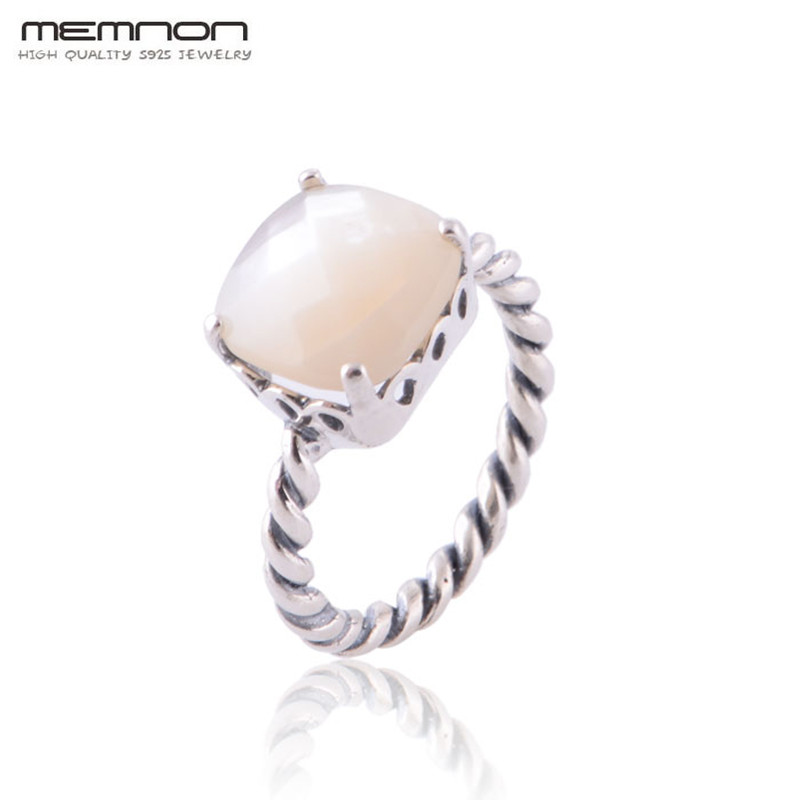 S925 fashion jewelry European Style Mother of Pearl Rings for women Made of 925 Sterling Silver anillos fine jewelry Wholesale
