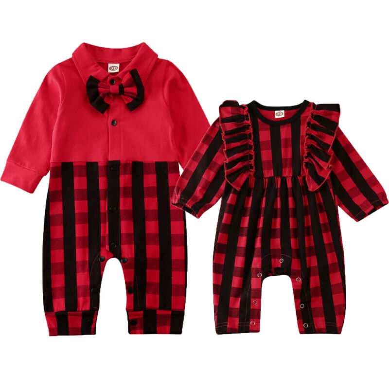 0-18 Months Unisex Baby Christmas Rompers Sisters And Brothers Matching Kid Baby Boys Girls Xmas Rompers Baby Girls Outfits