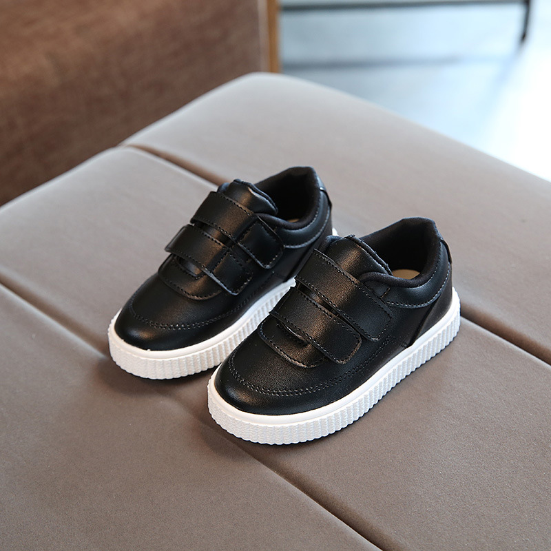 Sapato escolar infantil de couro, calçado casual