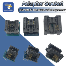SOP16 إلى DIP8 واسعة الجسم مقعد واسعة 150mil 200mil 208mil 300mil مبرمج SOP8 مأخذ توصيل محول ل EZP2010 EZP2013 CH341A IC اختبار