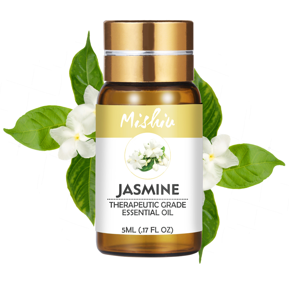 Mishiu Essential Oil Natural Aroma Oil Jasmine Peppermin Patchouli Body Massage Oil Water-soluble Aromatic PureHome Air Care 5ML