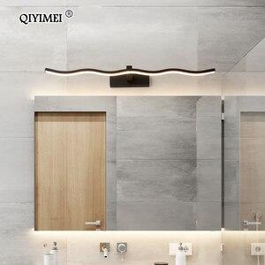 Image 3 - Led أضواء مرآة مصابيح الحائط الحمام مقاوم للماء أبيض أسود LED مصباح مسطح الحديثة داخلي الجدار مصباح الحمام الإضاءة يشكلون