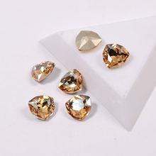 Высококачественный кристалл gsha цветная трилиантная форма без